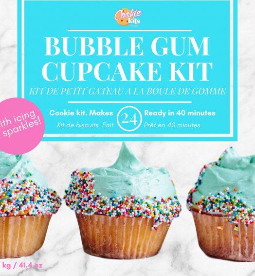 Bubble gum cupcake kit
