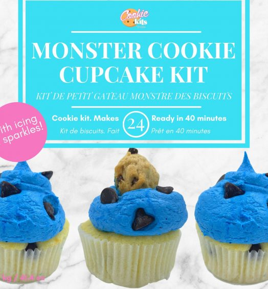 Monster cookie cupcake kit