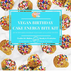 Vegan Birthday Cake Mini Protein Bites