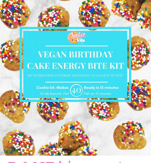Vegan Birthday Cake Mini Protein Bites